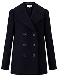 John Lewis Double Breasted Reefer Jacket Navy