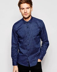 Replay Shirt Stretch Slim Fit All Over Geo Print In Black Black