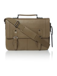 Ted Baker Contrast Edge Paint Satchel Taupe