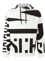 Moschino Striped Logo Hoodie Black