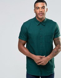 New Look Shirt With Short Sleeves In Green Mid Green