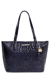 Brahmin 'Medium Asher' Leather Tote Blue Ink