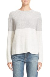 Vince Women's Colorblock Wool And Cashmere Crewneck Sweater