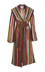 Rosie Assoulin Wrap Coat With Bell Sleeves Multi