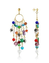 Antica Murrina Veneziana Brio Murano Glass Bead Chandelier Earrings Multicolor