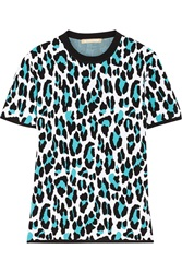 Michael Kors Leopard Intarsia Knitted Top