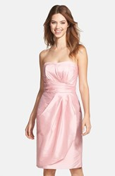 Women's Alfred Sung Wrapped Strapless Satin Dress