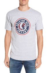 Brixton Men's 'Rival' Graphic T Shirt Heather Grey Black
