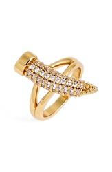 Rachel Zoe 'Hale' Pave Horn Pinky Ring Gold