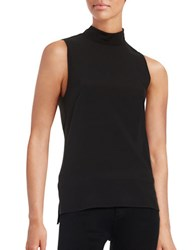 French Connection Hi Lo Contrast Top Black