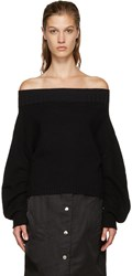 Opening Ceremony Black Off The Shoulder Sweater