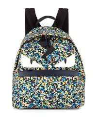 Fendi Men's Multicolor Confetti Print Backpack Multi Colors