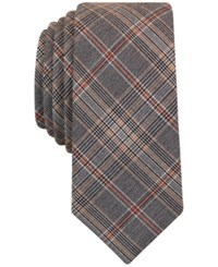 Bar Iii Men's Danbury Plaid Tie Only At Macy's Taupe