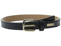 25Mm Patent Belt With Cole Haan Logo Plaque Under Tab Blue Women's Belts