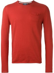 Woolrich Pocket Jumper Red
