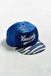 Urban Outfitters Vintage University Of Kentucky Printed Snapback Hat Blue