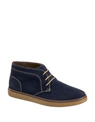 Johnston And Murphy Wallace Water Resistant Suede Chukka Boots Navy