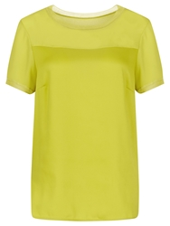 Planet Shell Top Chartreuse