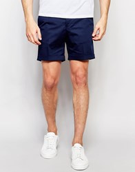 Noak Shorts With Turn Up In Super Skinny Fit Navy Blue