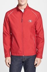 Cutter And Buck 'San Francisco 49Ers Beacon' Weathertec Wind And Water Resistant Jacket Cardinal Red
