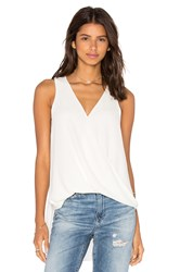 Eight Sixty V Neck Drape Tank Top White