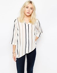 Influence Stripe Shirt White Stripe