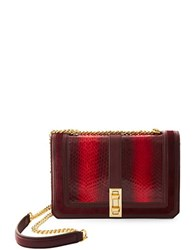 Brian Atwood Amel Ombre Water Snake Crossbody Bag Dark Red
