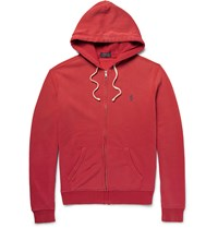 Polo Ralph Lauren Fleece Back Cotton Blend Jersey Hoodie Red