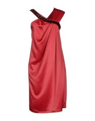 Amaya Arzuaga Knee Length Dresses Red
