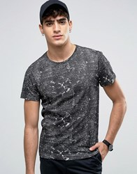 Casual Friday T Shirt In Mono Print Bright White