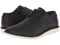 Toms Brogue Black Full Grain Leather Men's Lace Up Casual Shoes