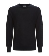 Sandro Cypher Wool Blend Jumper Male Navy