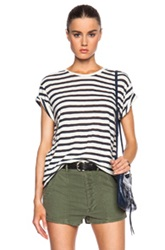 Nlst Classic Stripes Tee In White Blue Stripes