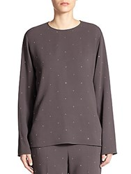 Paul Smith Bridgette Studded Blouse Smoke Mel