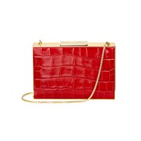 Aspinal Of London Box Clutch Bag Red