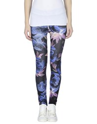 Via Delle Rose Trousers Leggings Women Bright Blue