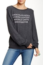 Wildfox Couture Kiss Forever Pullover Black