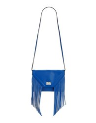 Steve Madden Fringed Faux Leather Shoulder Bag Blue