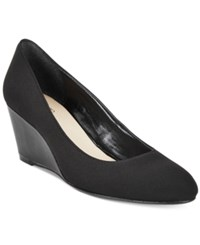 Taryn Rose Tr Katrina Wedge Pumps Only At Macy's Women's Shoes Black Stretch