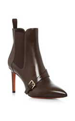 Santoni Buckle Strap Ankle Boot Brown