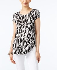Alfani Printed Asymmetrical Top Only At Macy's Vertical Shapes