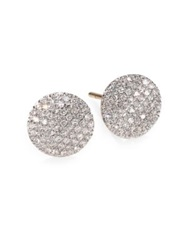 Phillips House Pave Diamond And 14K Yellow Gold Infinity Stud Earrings