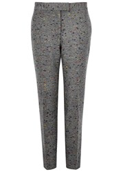 Christopher Kane Grey Flecked Wool Blend Trousers