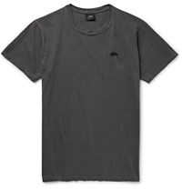 Stussy Cotton Jersey T Shirt Gray