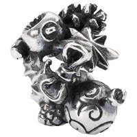 Trollbeads Sterling Silver Go Christmas Crazy Bead Silver