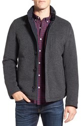 Sanyo Men's Fashion House Water Repellent Wool Blend Down Jacket