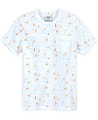 American Rag Men's Holiday Graphic Print T Shirt Only At Macy's Bright White