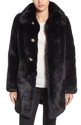 Kate Spade Women's New York Jewel Button Faux Fur Jacket