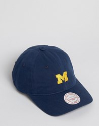 Mitchell And Ness Baseball Cap Adjustable Michigan Navy
