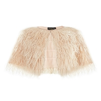 Phase Eight Felicia Feather Cape Nude